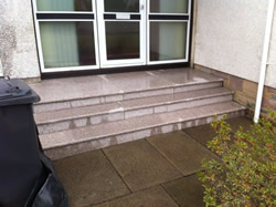 Granite doorsteps from Step by Step Granite Glasgow