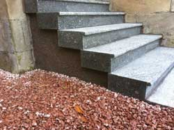 New granite doorsteps from Step by Step Granite Glasgow
